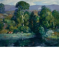 summer landscape by gifford beal