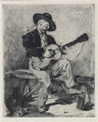 le chanteur espagnol (le guitarero) by édouard manet