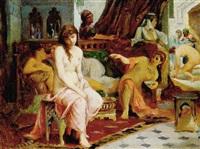 jeunes femmes dans un hammam by adolf karol sandoz