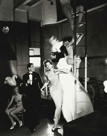 suzy parker and robin tattersall evening dress by griffe folies bergère paris august by richard avedon