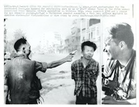 untitled, vietcong officer executed, with picture of adams at right by eddie adams
