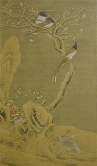 winterlandschaft mit schneehasenpaar by anonymous-chinese (18)