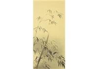 sparrow and bamboo by ryushi kawabata