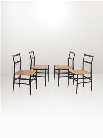 Quattro sedie Superleggera by Gio Ponti on artnet