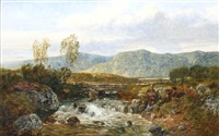 near capel curig, north wales by john wright oakes