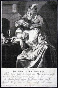 de wiin is een spotter (after f. van mieris) by hendrik bary