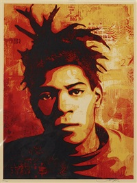 basquiat canvas print by shepard fairey