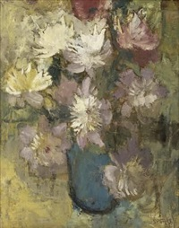 still life of spring anemones by frank sydney spears