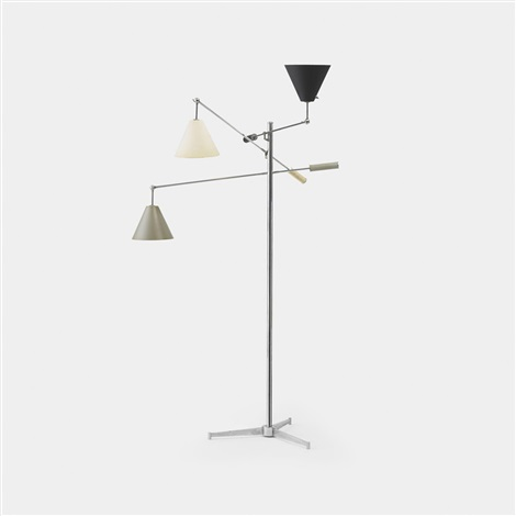 three arm floor lamp by arredoluce co