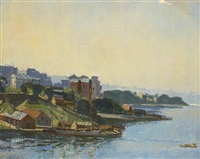 sydney harbour, kirribilli by robert waden