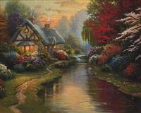 a quiet evening by thomas kinkade