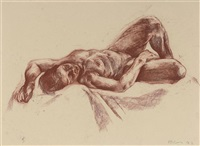 reclining nude by nicola hicks