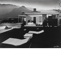 kaufmann house, palm springs by julius shulman