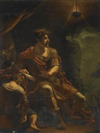 brutus disturbed by the ghost of caesar (from shakespeare's julius caesar, act iv, scene iii) by henry tresham