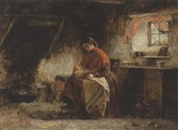 woman and child in interior by john blake mcdonald