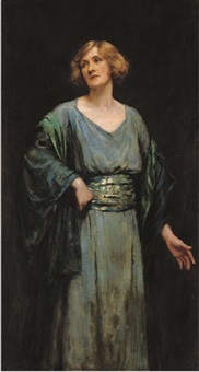 portrait of dame sybil thorndyke by sydney percy kendrick