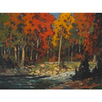 autumn landscape by lorne kidd smith