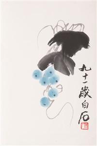 blaue früchte by qi baishi