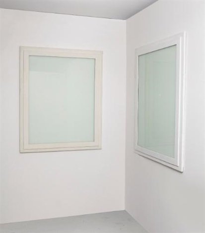 double white window in 2 parts by gregor schneider