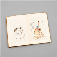 an album with 80 paintings and calligraphy by anonymous-chinese (qing dynasty)