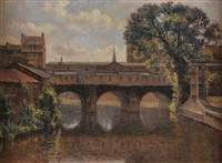 pulteney bridge, bath by kalman kemeny