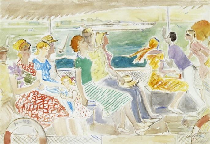 exkursion auf einem dampfschiff by alexandre arkadevich labas
