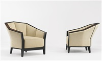pair of armchairs, model mf 172 by pierre chareau