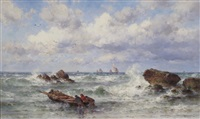a breezy day on the coast by theodor alexander weber