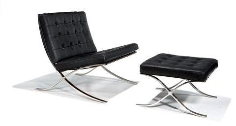 barcelona chair and ottoman model mr 250 2 works by ludwig mies van der rohe