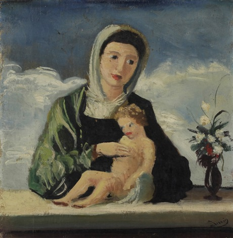 la vierge et lenfant after bellini by andré derain