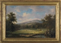 haying in the white mountains by john white allen scott