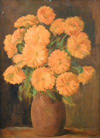 still life of marigolds by jacob kramer