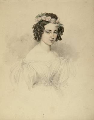 porträt einer jungen dame by johann nepomuk ender