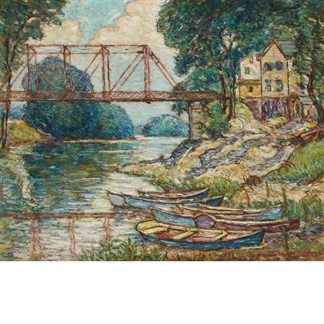 the red bridge new paltz new york by reynolds beal