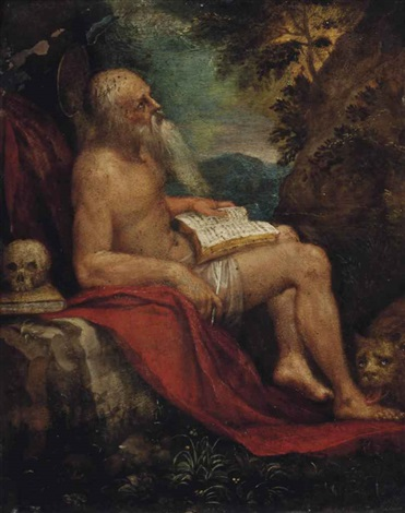 saint jerome in the wilderness by paul bril