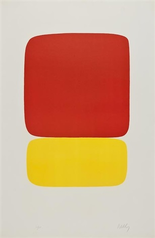 red over yellow by ellsworth kelly
