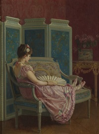 idle thoughts by auguste toulmouche