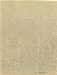 cork print (impronta sughero) (from la lune en rodage i) by piero manzoni