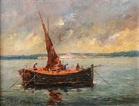 marine, barque de pêche au repos by jean corniche