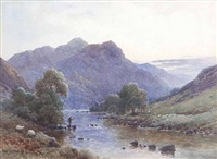 morning on the conwy by alfred de breanski sr