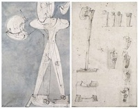 ohne titel (2 works) by rudolf hoflehner