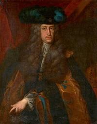 portrait de charles vi de habsbourg, empereur d'allemagne by german school (18)