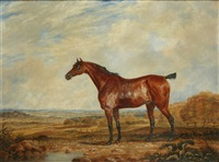 bay hunter before a parkland view by dean wolstenholme the younger