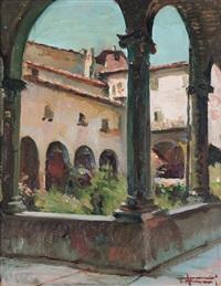 portico di un antico convento francescano a brescia by tullio alemanni