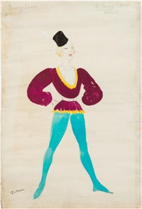 a folio of twenty two costume designs by doris clare zinkeisen