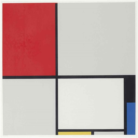 mondrian set of 12 by piet mondrian