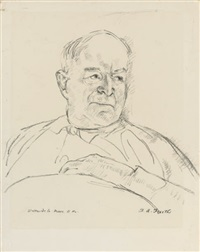 portrait of walter de la mare by h. andrew freeth