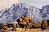 mountain view near simondium by ted (tjeerd adriaanus johannes) hoefsloot