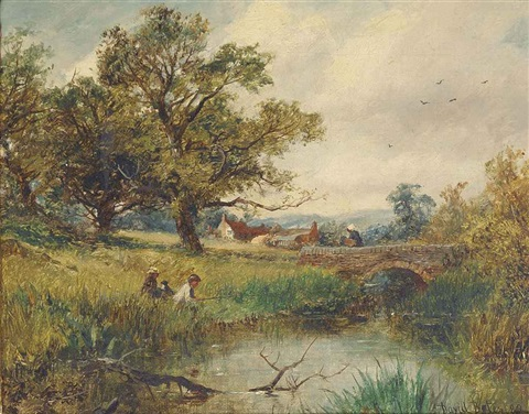 a worcester brook fishing pool near worcester 2 works by david bates