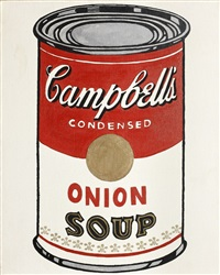 campbell's onion soup by mike bidlo